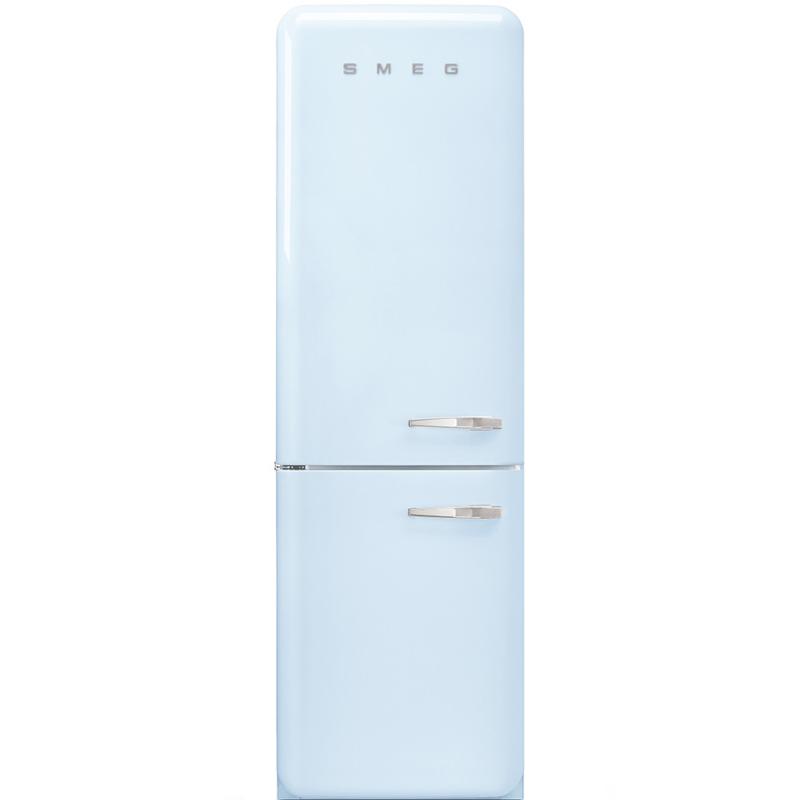 Smeg retro koelkast FAB32LPB3 linksdraaiend pastelblauw