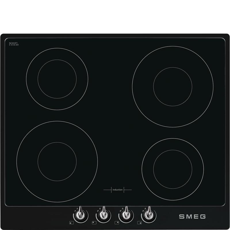 Smeg inductie kookplaat SI964NM zwart Victoria