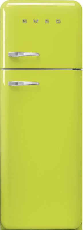 Smeg retro koelkast FAB30RLI3 rechtsdraaiend limegroen