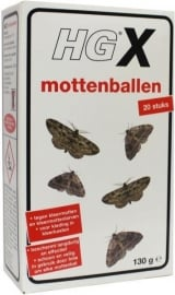 HG X Mottenballen 20 stuks
