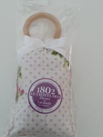 Lavendelzakje met houten ring Fleur de Lavande White