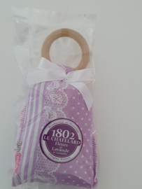 Lavendelzakje met houten ring Fleur de Lavande Lilac