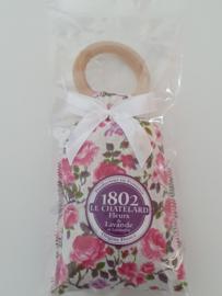 Lavendelzakje met houten ring Fleur de Lavande Rose