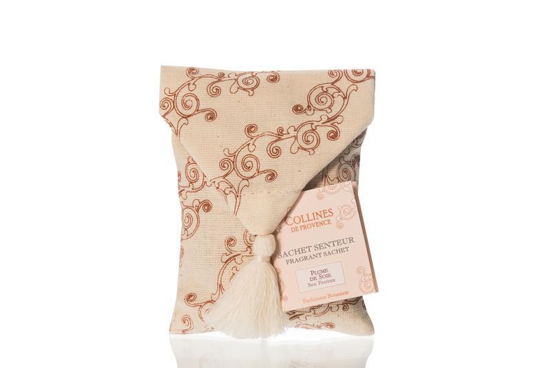 Collines de Provence - Geurzakje voor in de linnenkast Silk Feather met geurstenen