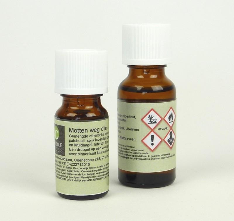 Motten-weg geurolie. 20 ml.