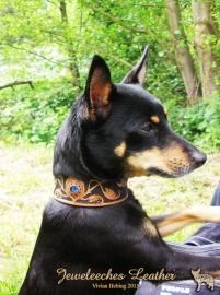 Leren hondenhalsband: The Laila