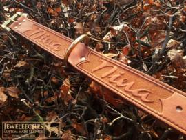 Hondenhalsband The Nina met bijpassende gevlochten mystery braid halsband
