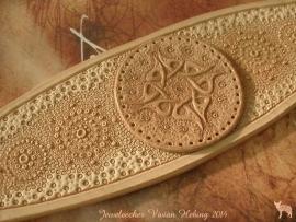 Leren armband 'Braille gone wild' naturel!!