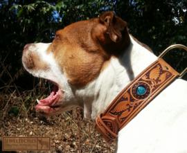 Hondenhalsband ´sierlijk´met glaskaal