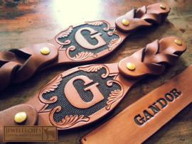 Leren hondenhalsband The Gandor
