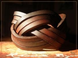 Luxe 'mystery braid' armband! ( 9 stroken)