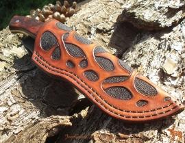 Knife sheath - messenschede 1 organisch patroon