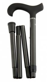 Carbon opvouwbaar wandelstok 56228 met soft-handgreep