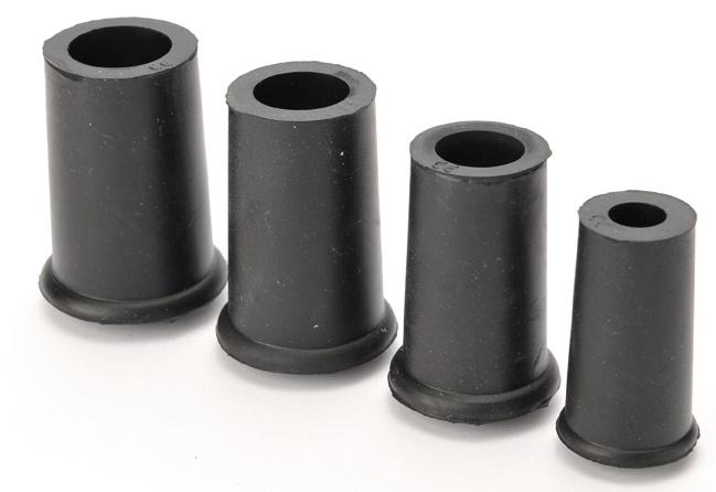 Gummi dop zwart 1906-s 18 mm