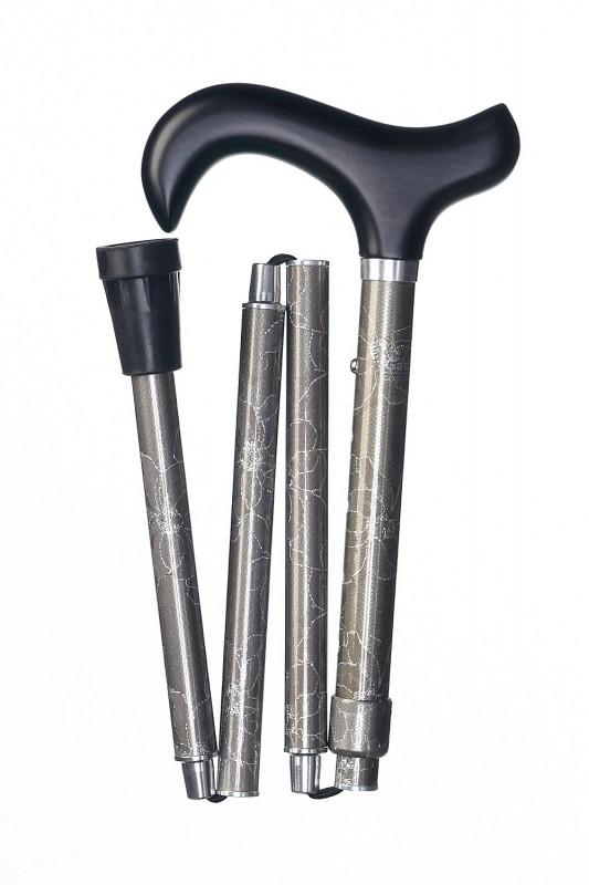 Aluminium wandelstok Deluxe slank zilver Dames 64128-4