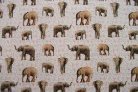 Tricot olifantjes digitale print