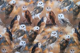 Tricot uilen digitale print