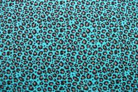Tricot leopard blue