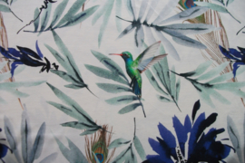 Tricot hummingbird wit digitale print