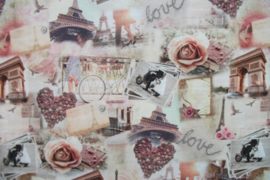 Tricot romantic love digitale print