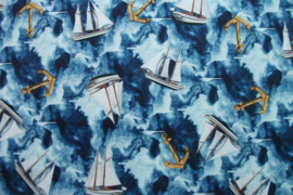 Tricot sailing digitale print