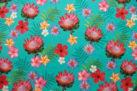 Tricot botanic bloemen digitale print