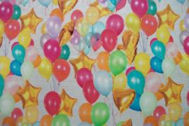 Tricot ballonnen gekleurd digitale print