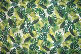 Tricot palm leaves digitale print