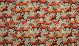 Tricot paarden digitale print