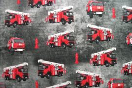 Tricot brandweer digitale print