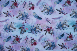 Tricot romantic digitale print