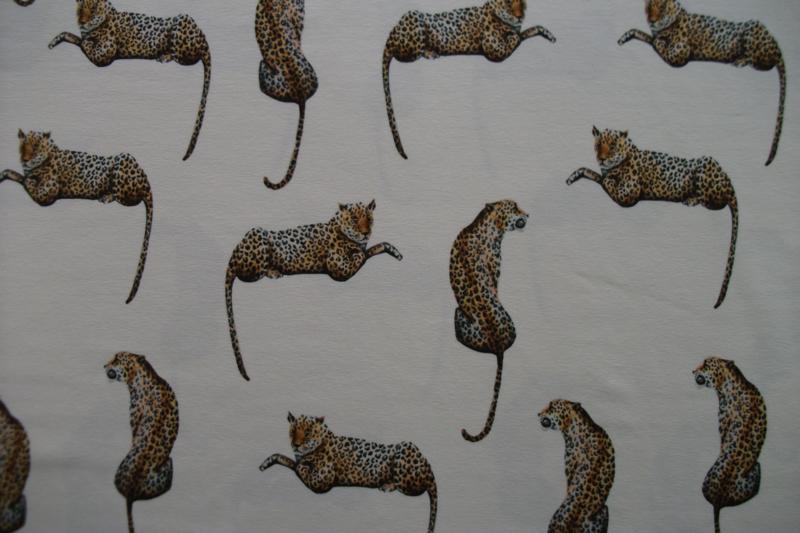 Tricot luipaarden digitale print