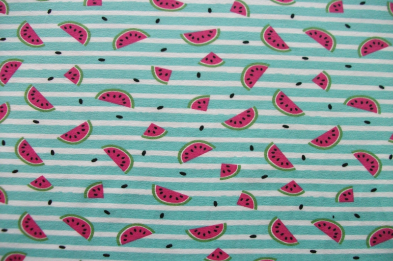 Tricot meloen streep mint