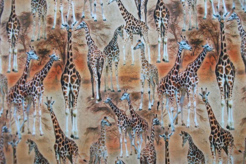 Tricot giraf digitale print