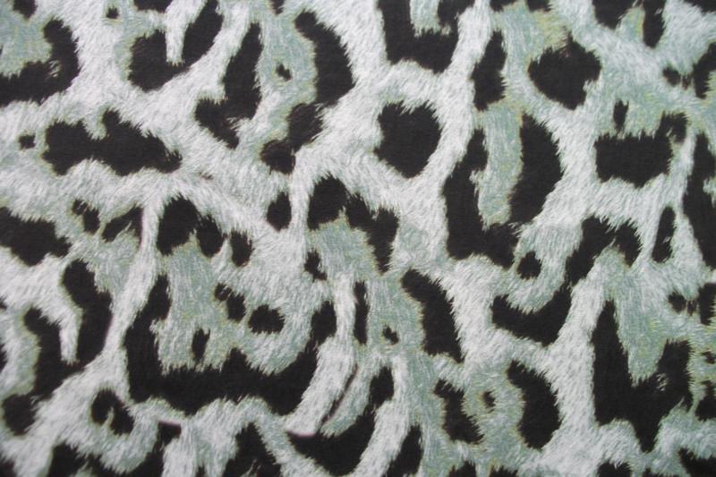 Tricot animal green digitale print