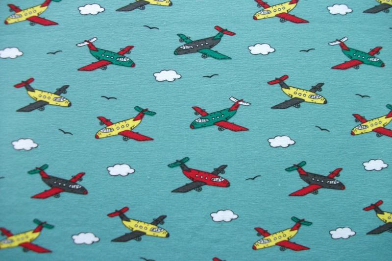 Tricot vliegtuigen mint
