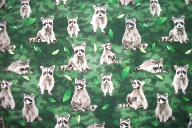 Tricot wasbeer digitale print