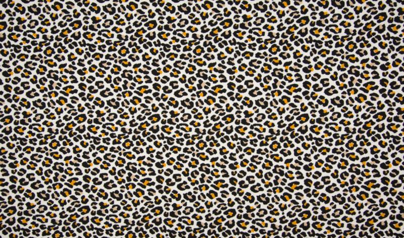 Tricot leopard ecru oker