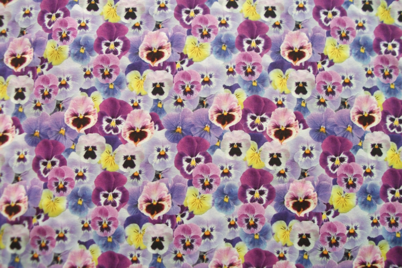Tricot violen digitale print