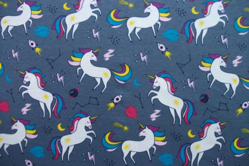 Tricot unicorn grijs