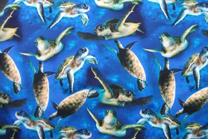 Tricot schildpadden digitale print