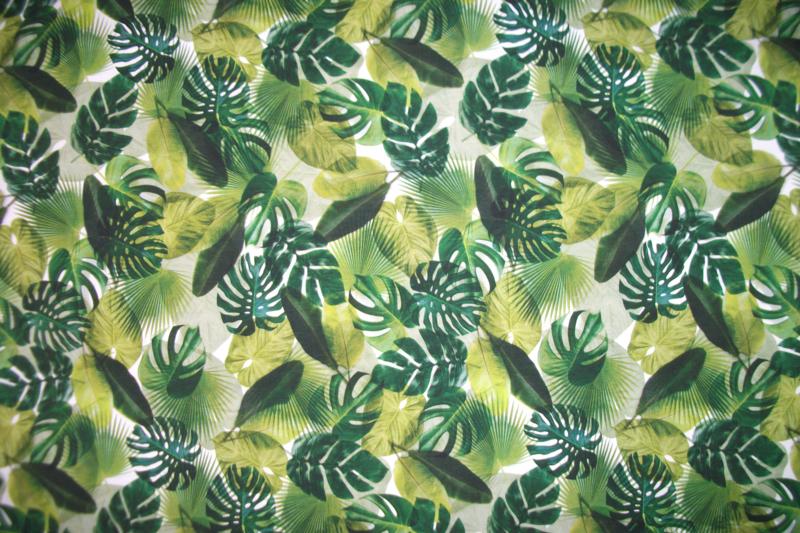 Tricot palm leaves digitale print