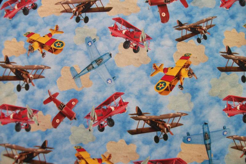 Tricot vliegtuigen digitale print