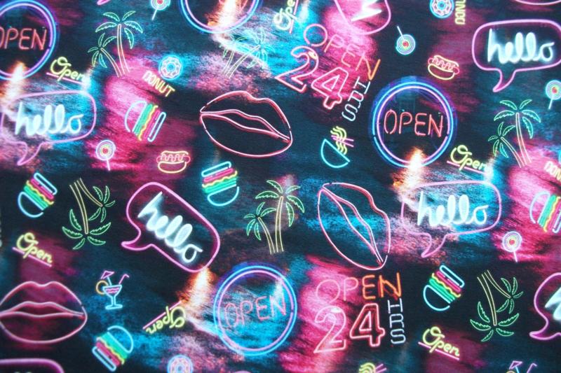 Tricot neon digitale print