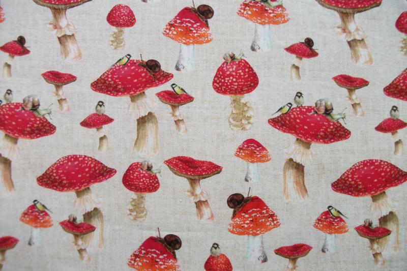 Tricot paddenstoelen digitale print