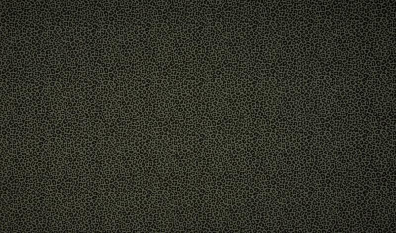Tricot leopard khaki klein
