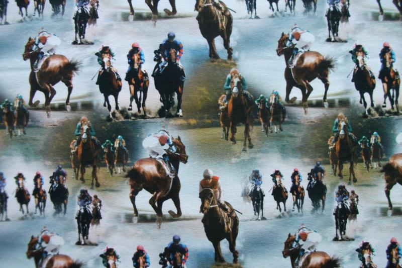 Tricot racepaarden digitale print