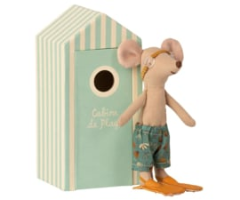 Maileg Beach Mice Big Brother - Muisje Grote Broer in Strandhuisje (15,5 cm)