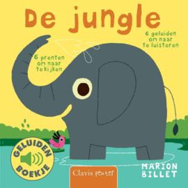 Uitgeverij Clavis Geluidenboekje - De Jungle +1jr