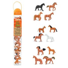 Safari Speelfiguren Toob Set - Paarden